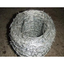 Galvanized Double Twist Barbed Wire Fence